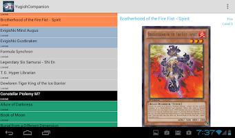 Screenshot of Yugioh Companion