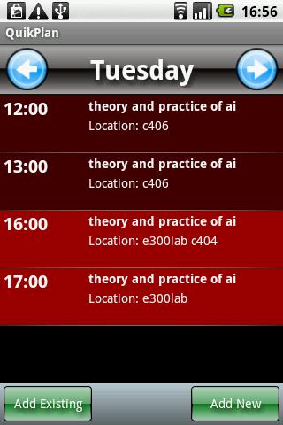 QuikPlan Timetable organizer