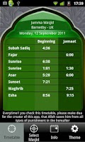 Screenshot of Masjid Timetable