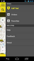 Screenshot of cab4me taxi finder