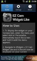 Screenshot of EZ Cam Widget Lite