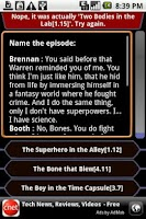 Screenshot of Bones - QuoteTrivia