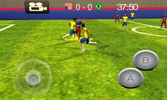 Screenshot of Indoor Soccer World game