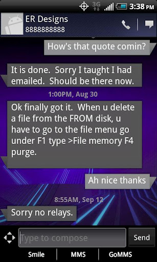 Honeycomb Go SMS Pro Theme