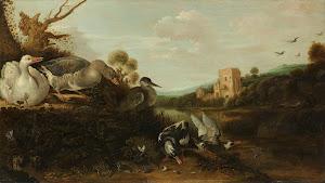RIJKS: Gijsbert Gillisz. de Hondecoeter: painting 1652