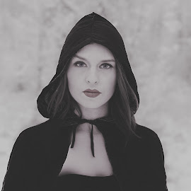 Red riding hood by Lidy Kerr - People Portraits of Women