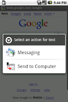 Screenshot of Send to Computer