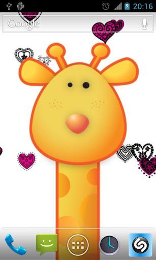 【免費個人化App】Giraffe Live Wallpaper HD-APP點子