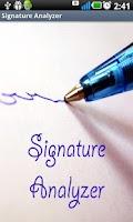 Screenshot of Signature Analyzer