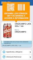 Screenshot of BIDI: lector QR y de barras