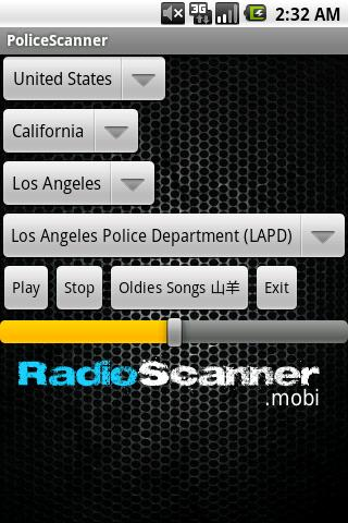 police-scanner-radio-scanner for android screenshot