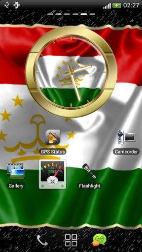 Tajikistan flag clocks