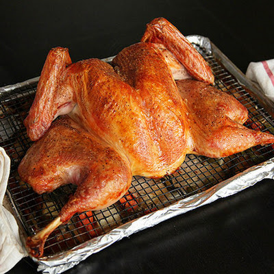 Crisp-Skinned Butterflied Roast Turkey with Gravy