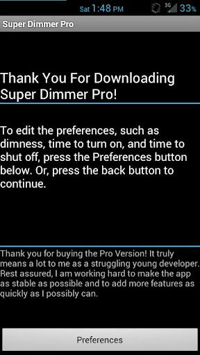 Super Dimmer Pro