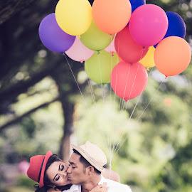 by Ruedix Photoworks - People Couples ( instagram, kissing, prewedding, wedding, cute, moments )
