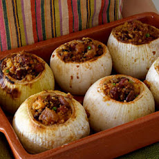 Cornbread, Pecan, and Salt Pork–Stuffed Onions Recipe