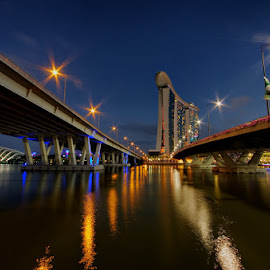 The Two Bridges to MBS by Ken Goh - Buildings & Architecture Bridges & Suspended Structures