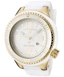 Swiss Legend Men's Neptune White Dial White Rubber SL-21818P-YG-02 Watch