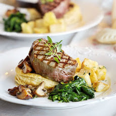 Steak With Mushroom Puff Tartlets