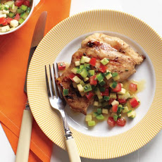 Emeril's Grilled Chicken Thighs and Garden Salsa