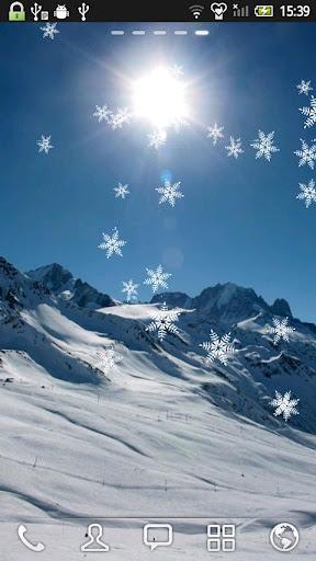 雪山 动态壁纸