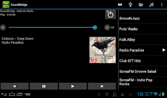 Screenshot of Remote for SoundBridge