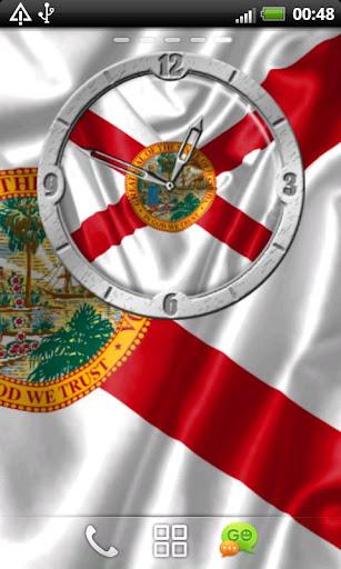 USA Florida clock flag