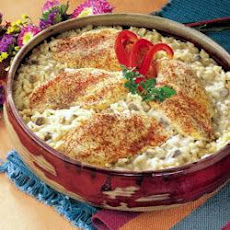 One Dish Chicken and Rice Bake