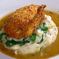 Max's Specialty Chicken Chop with Sage and Baby Spinach Mashed Potatoes