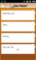 Screenshot of NoteMaster NotePad + draw pad