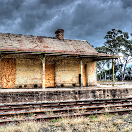 Capertee Station by Michael Lucchese - Buildings & Architecture Decaying & Abandoned ( hdr, transport, central nsw, station, australia, buildings, train, nsw, abandoned )