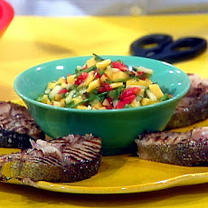 Mahi Mahi Steaks with Mango Salsa and Curry Couscous