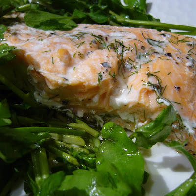 Salmon with Watercress and Sorrel Salad