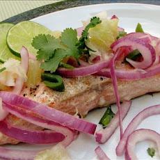 Roast Salmon With Lime Salsa