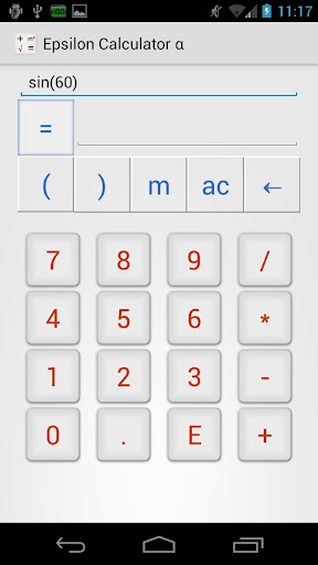 Epsilon Calculator Alpha