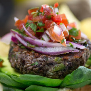 Roasted Poblano Black Bean Burger