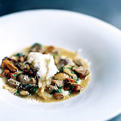 Creamy White Polenta with Mushrooms and Mascarpone
