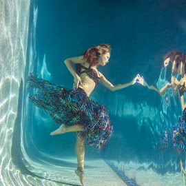 Underwater Hula by Tracy Kahn - People Fashion ( water, model, reflection, fashion, hula, female, dream, pool, underwater, woman, beauty, hawaii )