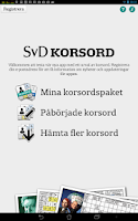 Screenshot of SvD Korsord (avslutad beta)