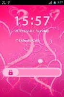Screenshot of GO Locker Romantic Pink Hearts