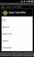 Screenshot of Quick Task Killer