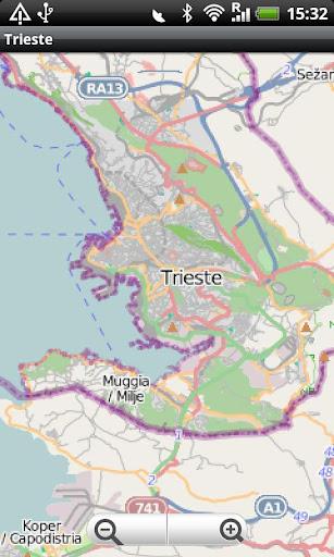 Trieste Koper Street Map