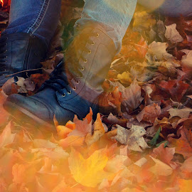 Boots by Chelsea Campbell - Artistic Objects Clothing & Accessories ( clothing, autumn, fall, leaves, bokeh, boots, apparel )