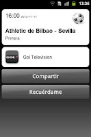 Screenshot of TVdeportes (La Liga,Champions)