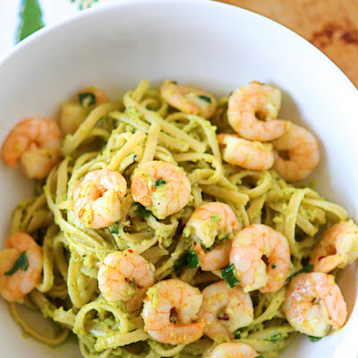Shrimp & Avocado Pasta