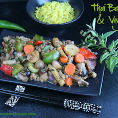 Thai Basil Pork and Vegetable Stir Fry