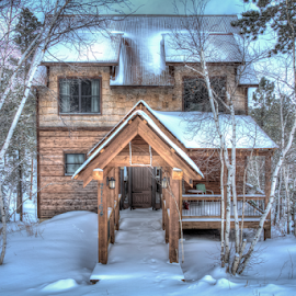 Snow Cabin by Dave Zuhr - Buildings & Architecture Other Exteriors ( cabin, vacation, snow, d_zuhr, dzuhr )
