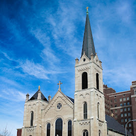 Cathedral by Wendy Haste - Buildings & Architecture Places of Worship ( building, sky, church, cathedral, worship )