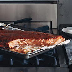 Slow-Roasted Red-Wine-Lacquered Salmon Fillet