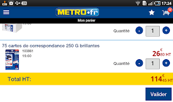 Screenshot of METRO.fr